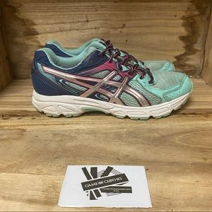 ASICS gel contend blue pink running sneakers shoes